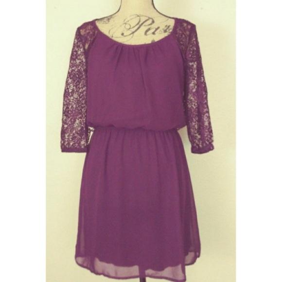 Speechless Dresses & Skirts - Purple lace dress